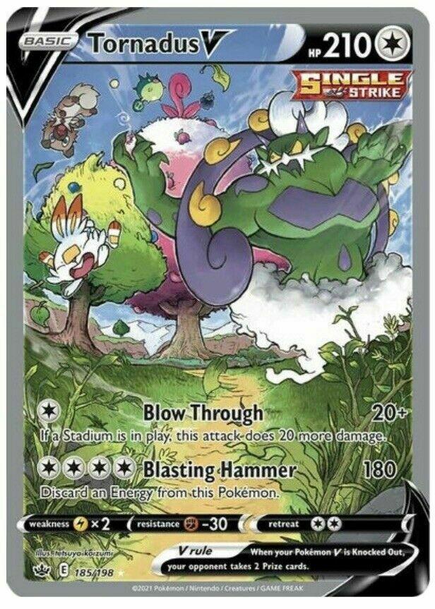 Tornadus V - 185/198 Holo Pokemon Card Chilling Reign