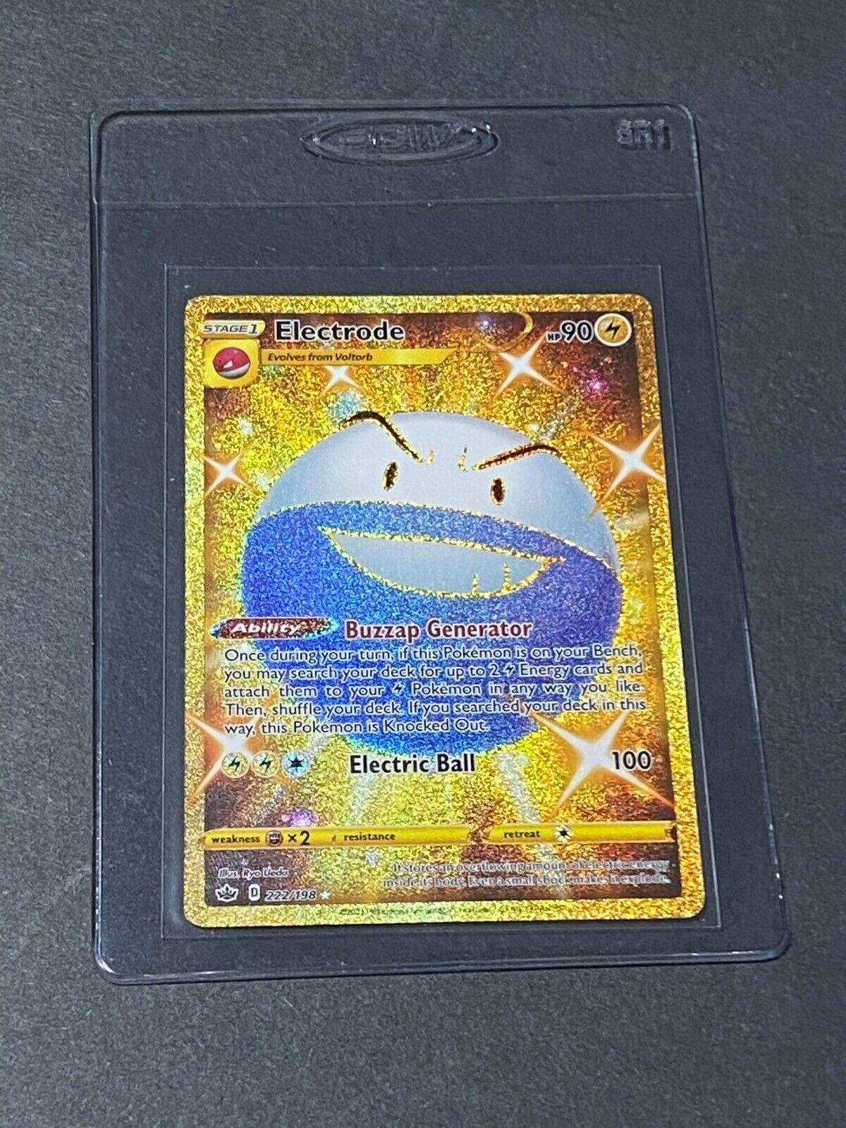 Electrode 222/198 GOLDEN SECRET RARE FULL ART Chilling Reign Pokemon TCG