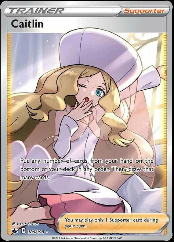 Caitlin Full Art 189/198 NM M- Chilling Reign Pokemon