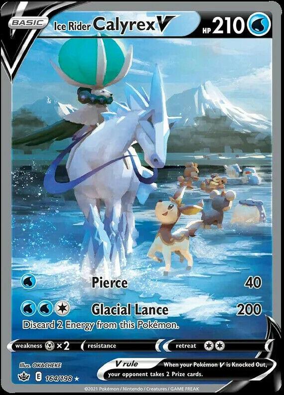 Ice Rider Calyrex V Alternate Art 164/198 NM|M- Chilling Reign Pokemon