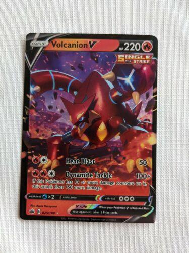 Volcanion V - 025/198 - Rare Holo Card - Pokemon Chilling Reign MINT