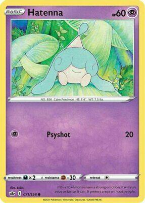 x4 Hatenna - 071/198 - Common Pokemon SS06 Chilling Reign M/NM
