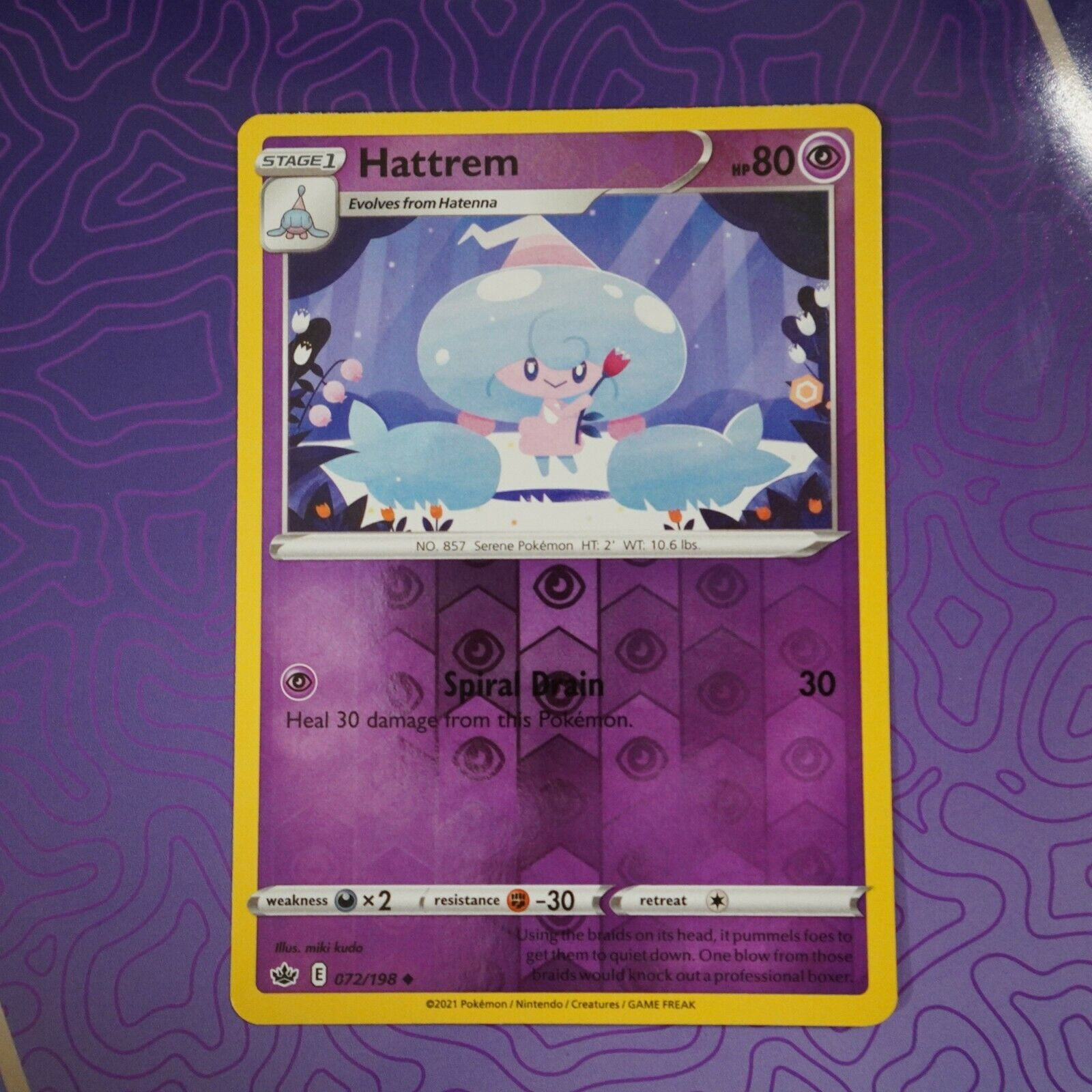 HATTREM 072/198 Reverse Holo Chilling Reign NM