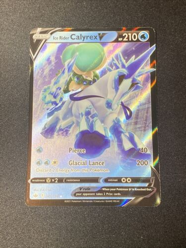 Pokemon Ice Rider Calyrex V 045/198 Ultra Rare Chilling Reign NEW IN-HAND