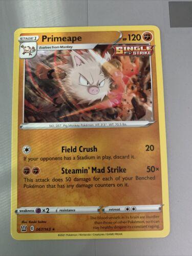 Pokemon PRIMEAPE 067/163 Battle Styles - MINT Ships PWE