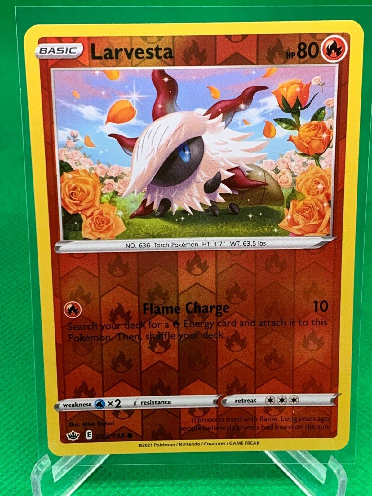 Pokemon - Larvesta - Chilling Reign - 023/198 - Reverse Holo - Image 1