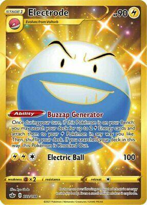 1x Electrode - 222/198 - Secret Rare NM-Mint Pokemon SWSH6 - Chilling Reign