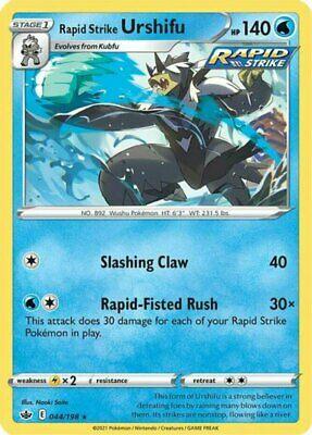 x1 Rapid Strike Urshifu - 044/198 - Holo Rare Pokemon SS06 Chilling Reign M/NM