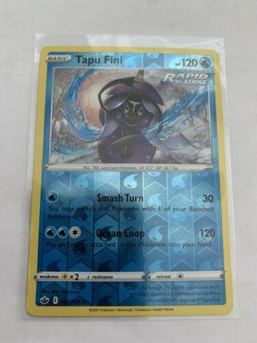 Pokemon Card Chilling Reign Tapu Fini - 040/198 - Rare Reverse Holo NM/ Mint