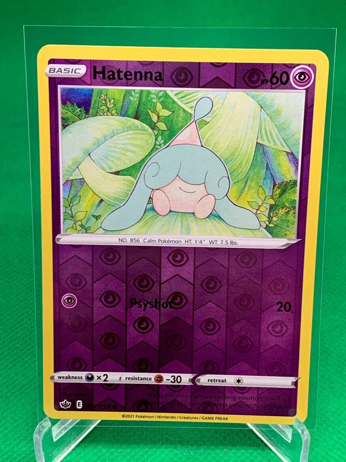 Pokemon - Hatenna - Chilling Reign - 071/198 - Reverse Holo