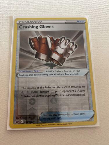 Crushing Gloves 133/198 - Reverse Holo Trainer - Pokemon Chilling Reign