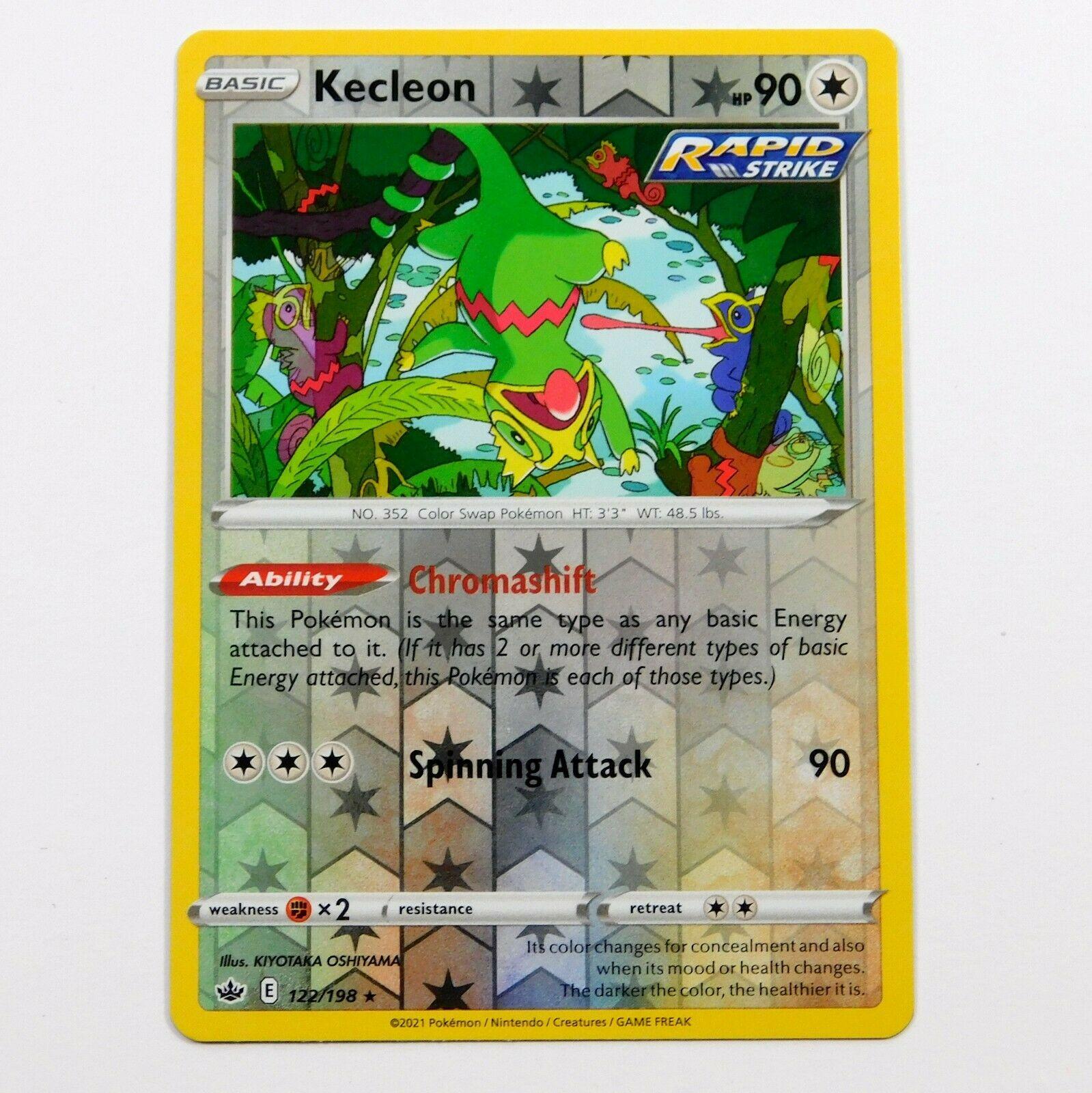 Kecleon 122/198 Reverse Holo Chilling Reign Pokemon Card NM/M