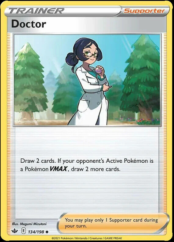 4x Doctor 134/198 NM|M- Chilling Reign Pokemon