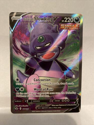 Galarian Slowking V FULL ART 178/198 Holo Pokemon Card Chilling Reign