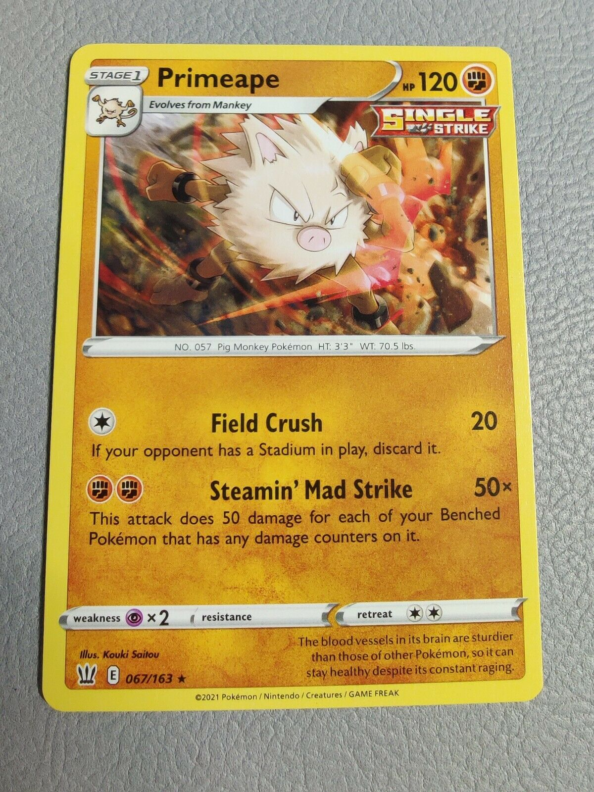 Primeape | NM/M | Battle Styles 067/163 | Rare | Pokemon