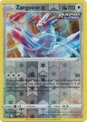 Pokemon - Zangoose - 120/198 - Reverse Holo Rare - Chilling Reign - NM/M
