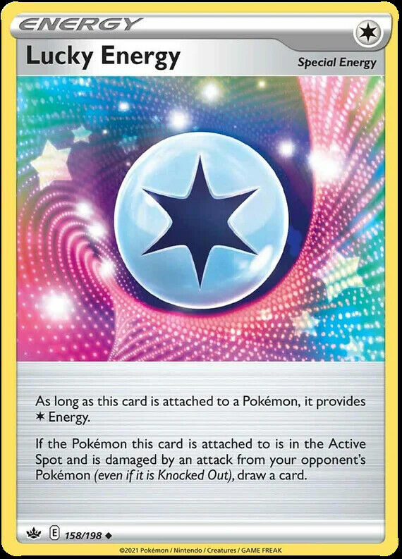 4x Lucky Energy 158/198 NM|M- Chilling Reign Pokemon