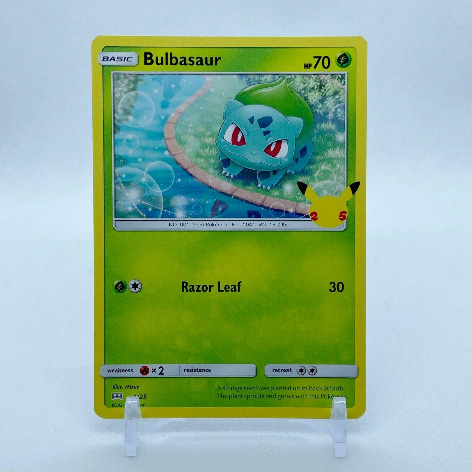 Bulbasaur - 1/25 Mcdonald's Promo 25th Anniversary Starter Pokemon - NM/MINT