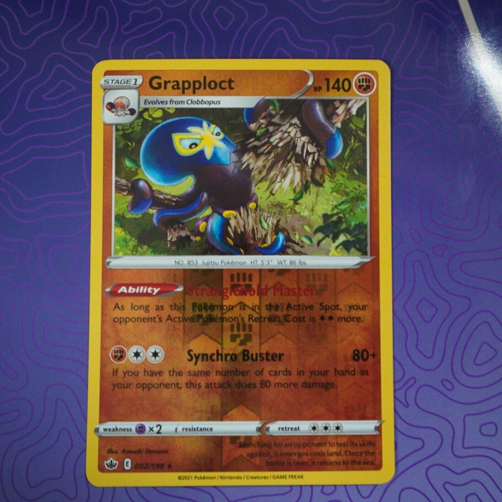 Grapploct 092/198 Reverse Holo Rare Chilling Reign Near Mint