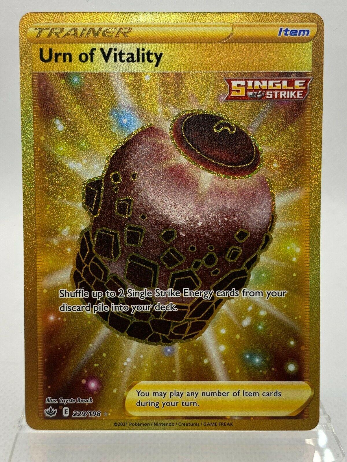 Urn of Vitality 229/198 Gold Secret Rare Chilling Reign Pokemon
