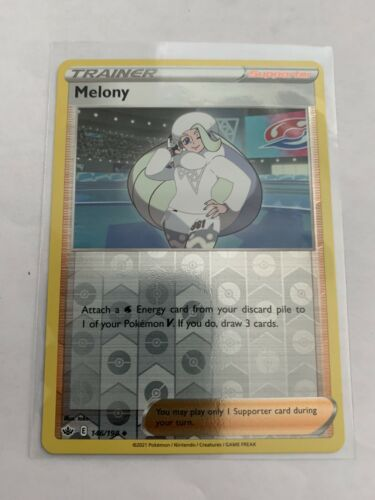 Pokemon Card Chilling Reign Melony - 146/198 - Uncommon Reverse Holo NM/ Mint