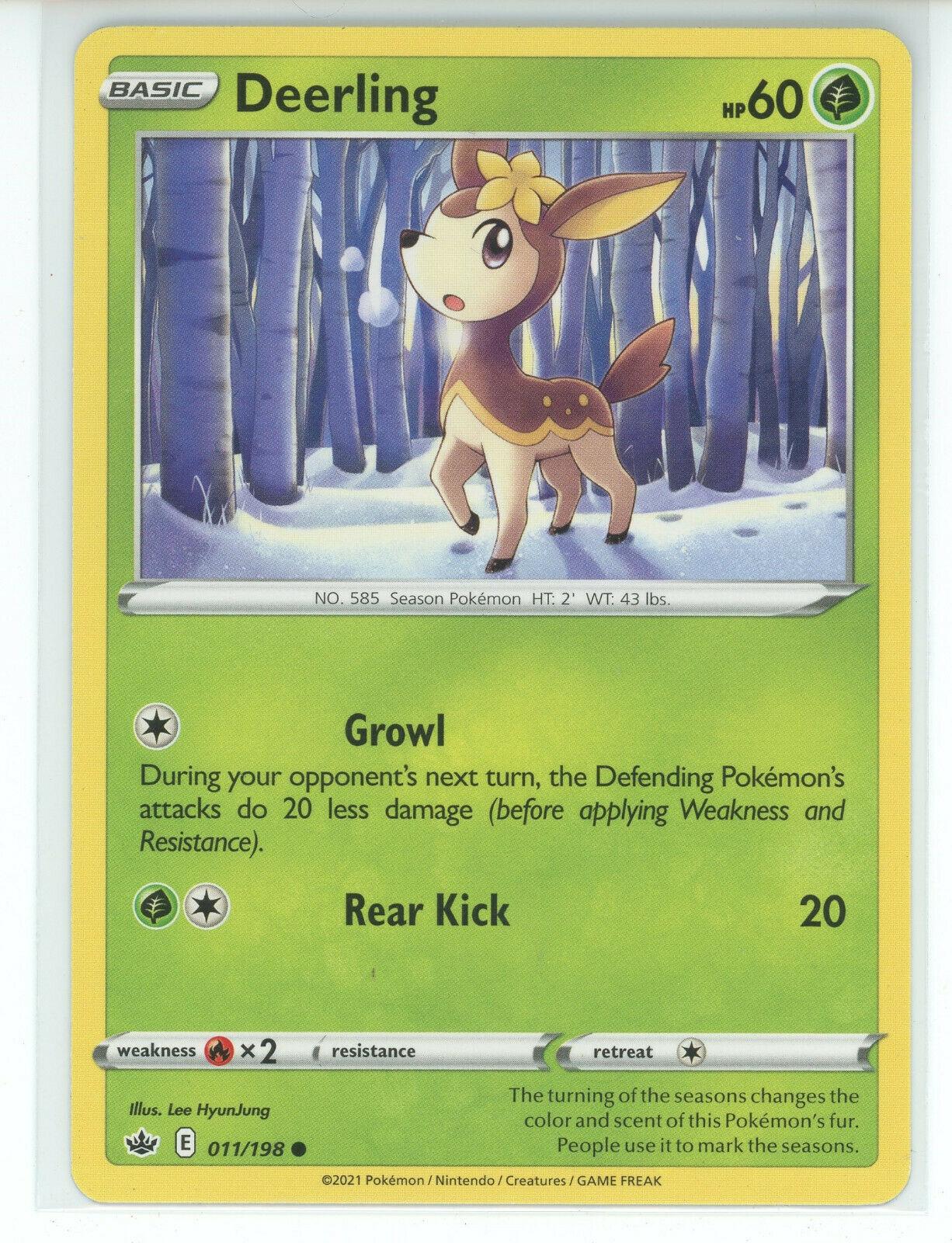 Pokemon 2021 S&S Chilling Reign Deerling 011/198 Common