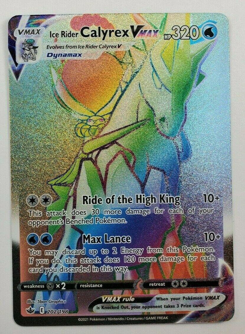 Ice Rider Calyrex VMAX 202/198 Chilling Reign Secret Rare NM/M