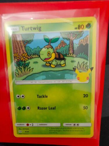 Turtwig 4/25 Non Holo Pokemon Card, McDonald's 25th Anniversary Promo