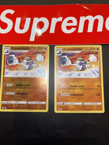 🔥X2 Crabominable 085/198 Reverse Holo Chilling Reign Pokemon Card NM/M