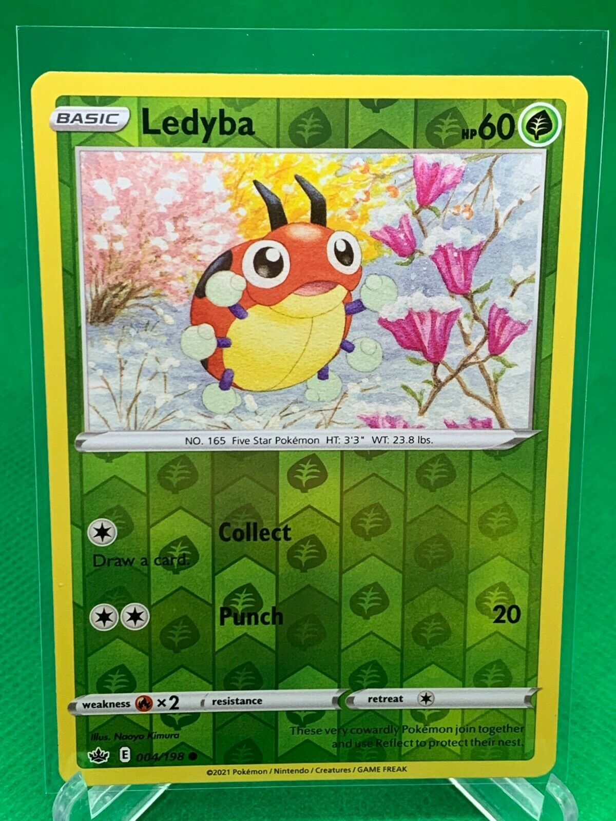 Pokemon - Ledyba - Chilling Reign - 004/198 - Reverse Holo