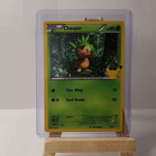 Chespin 6/25 - Pokemon 25th Anniversary - McDonald's Stamped HOLO Promo NM/M