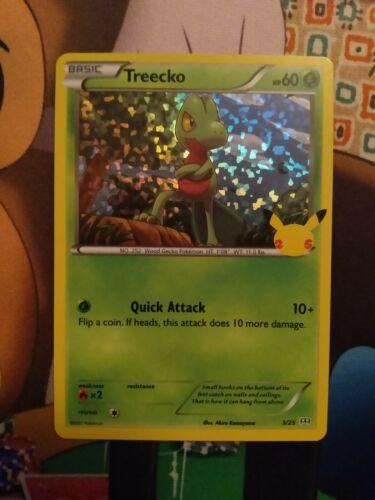 Treecko - 3/25 - 25th Anniversary Set McDonald's Holo Promo - Pokemon TCG - NM - Image 1