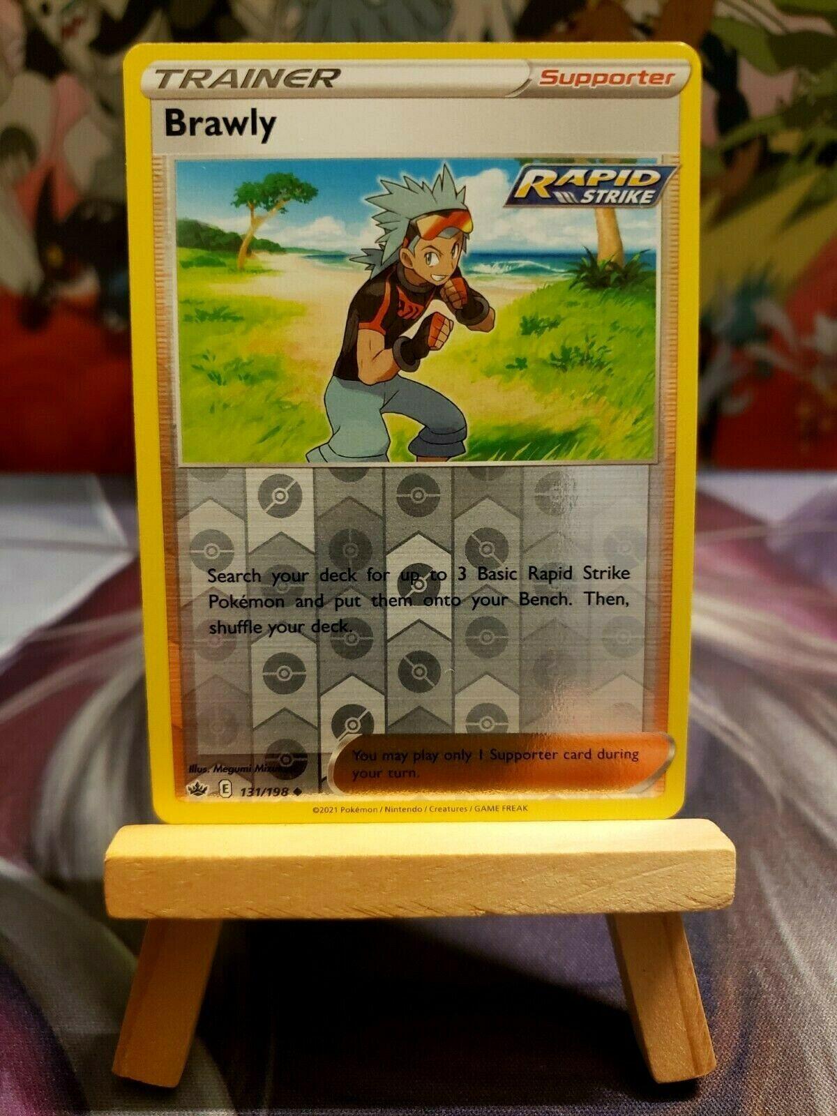 Brawly [131/198] Reverse Holo, SWSH Chilling Reign, Mint/NM, Pokemon TCG