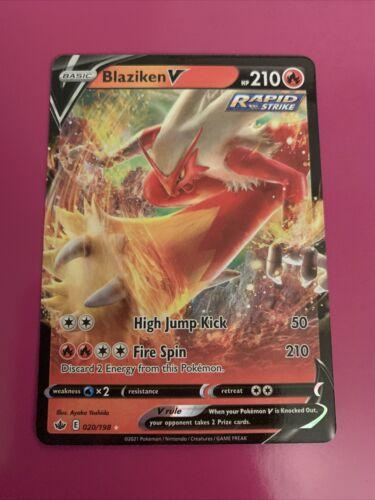 Blaziken V 020/198 Full Art NM/M Chilling Reign Pokemon Card