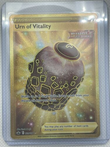 Pokemon TCG Chilling Reign Urn Of Vitality Gold Secret Rare 229/198 Sandaconda V