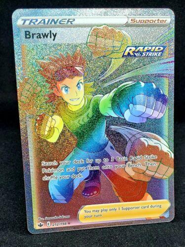 Brawly Hyper Rare 212/198 New Chilling Reign Pokémon Set Mint Condition