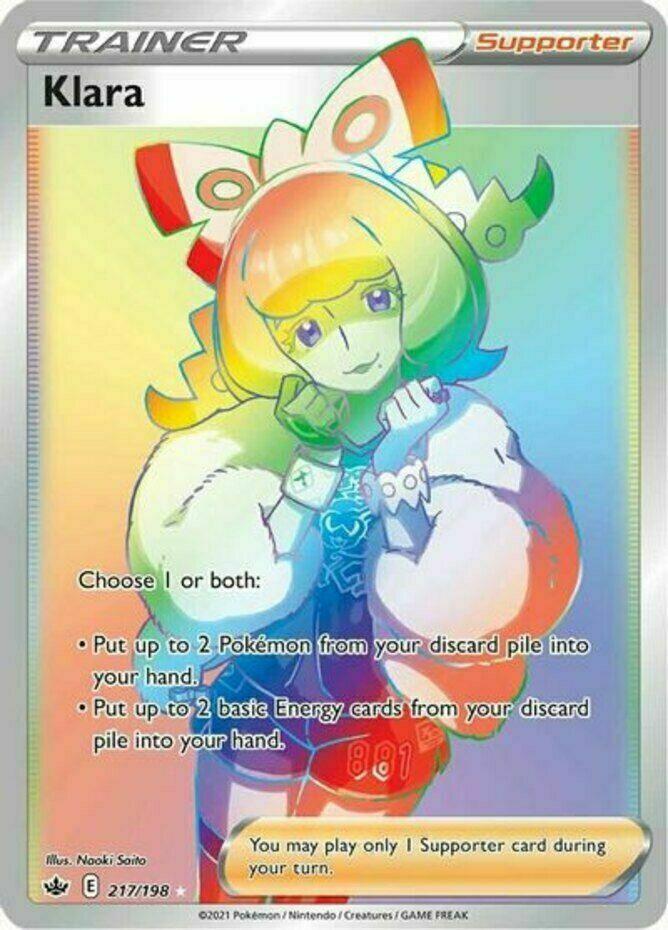 Pokemon  - Klara - 217/198 - Secret Rare - Chilling Reign  - NM/M