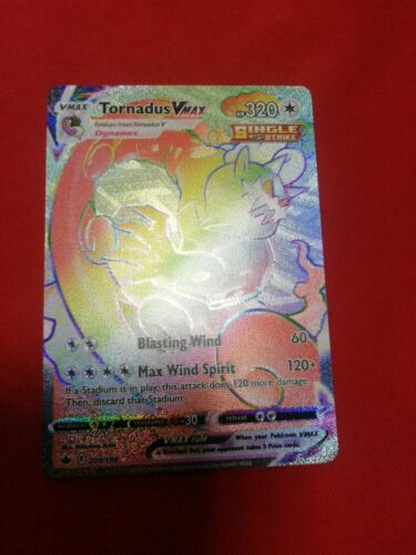 POKEMON Tornadus VMAX Rainbow Rare - 209/198 - Chilling Reign Secret Rare - MINT - Image 1