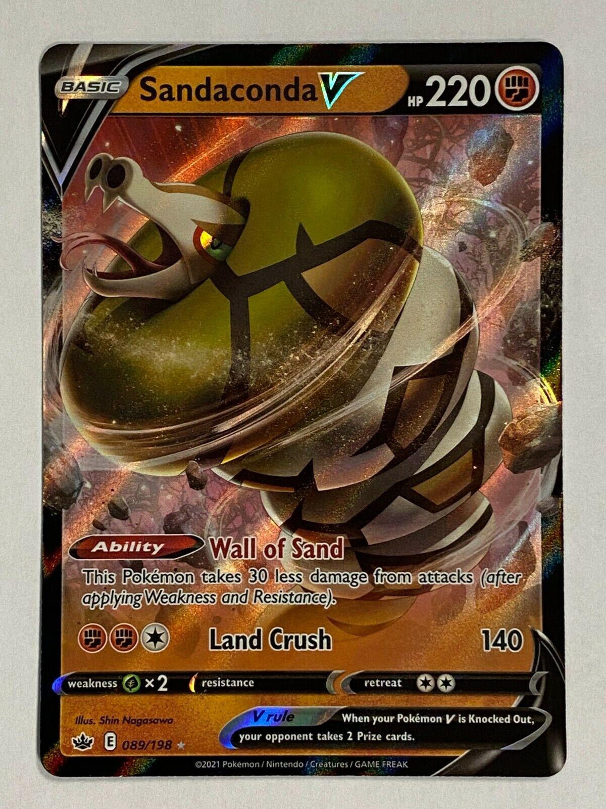 Sandaconda V 089/198 - Ultra Rare - Pokemon Chilling Reign