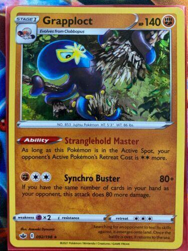 Grapploct 092/198 Rare Holo SWSH Chilling Reign Pokemon Card MINT