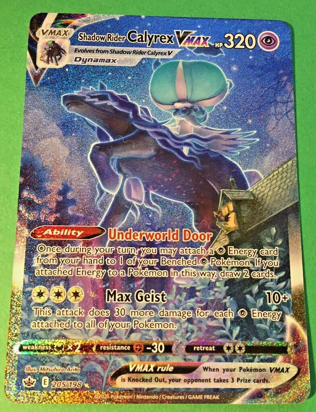 Pokemon Chilling Reign Shadow Rider Calyrex VMAX 205/198 Alternate Art