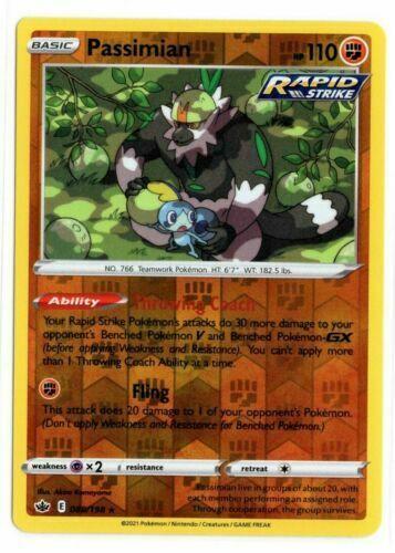Pokemon - Passimian 088/198  - Reverse Holo - Chilling Reign - NM/M