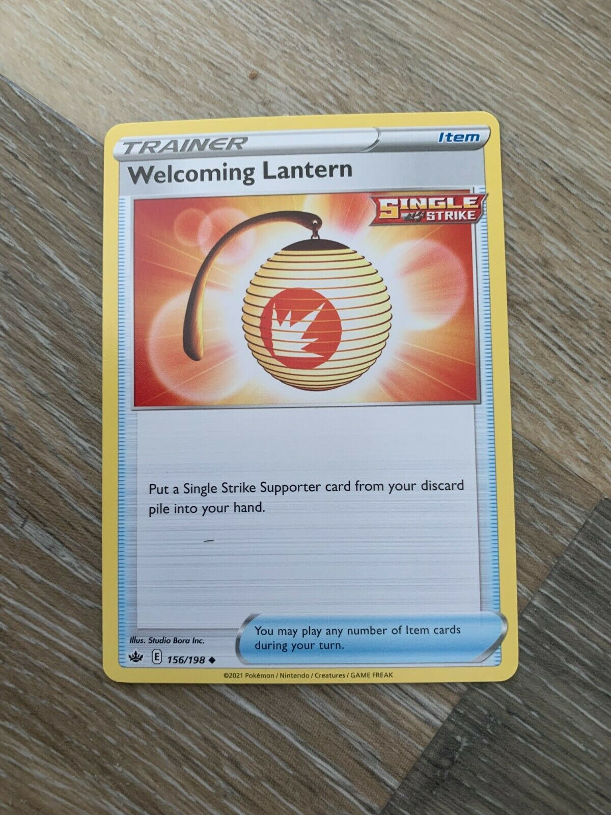 Pokemon Card Chilling Reign Welcoming Lantern - 156/198 - Uncommon NM/ Mint - Image 1