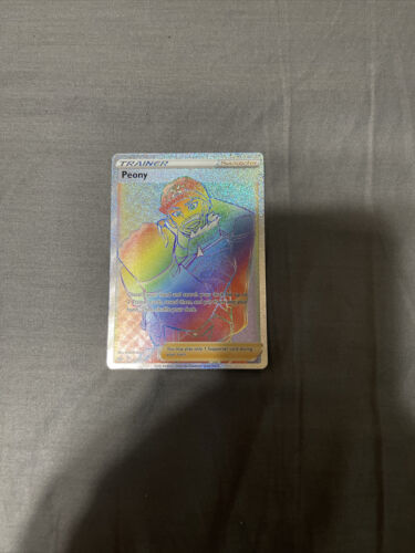 Pokemon Chilling Reign Peony Rainbow Secret Rare Full Art Trainer 220/198-Mint