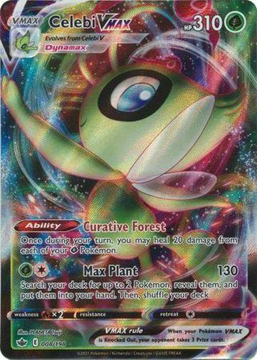 Pokemon Chilling Reign Celebi VMAX Ultra Rare 008/198