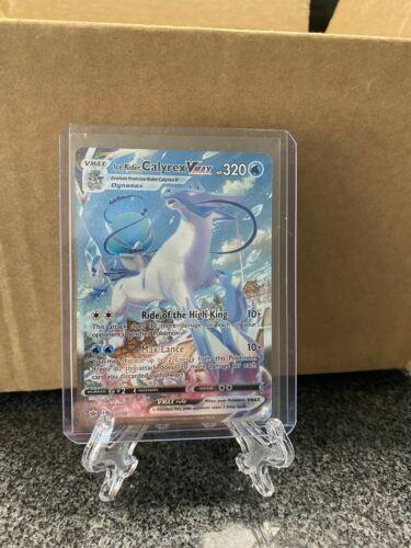 Pokemon Ice Rider Calyrex VMAX 203/198 Secret Rare Chilling Reign 🔥 NM