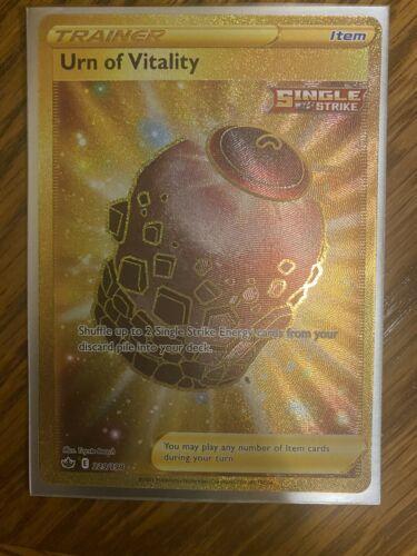 Pokemon Chilling Reign Urn of Vitality Gold Secret Rare 229/198 MINT