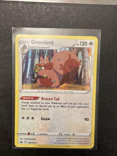 Pokemon - Greedent - 128/198 - Reverse Holo Rare - Chilling Reign