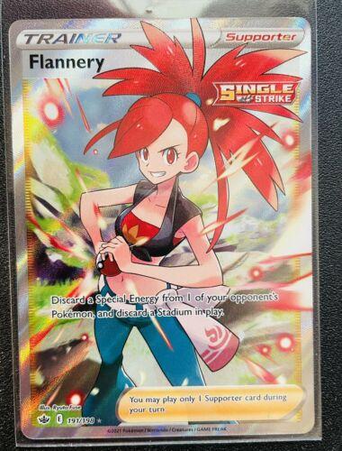 Flannery full art 191/198 MINT - Chilling Reign pokemon trainer - toploader ship