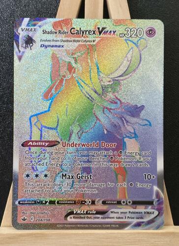 Chilling Reign Shadow Rider Calyrex VMAX - 204/198 - Secret Rare - PSA Condition